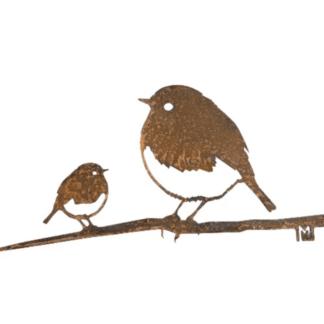 duo rouge gorge metalbird