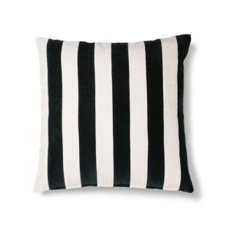 coussin noir blanc lignes hkliving