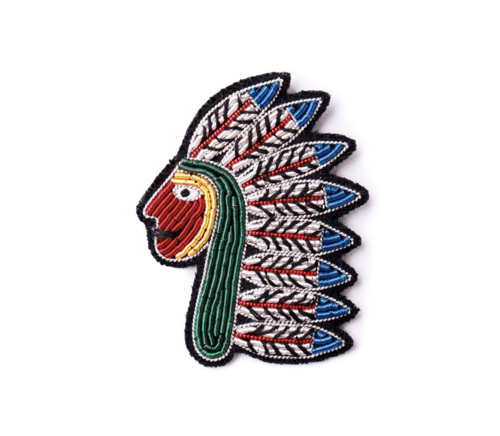 Macon & Lesquoy broche Native Américain