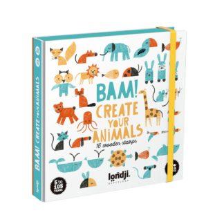 Londji jeu BAM! Create yours animals