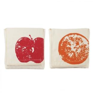 fluf pochette lunch orange pomme